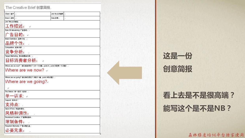 4A广告通用创意简报的基本元素及填写指南